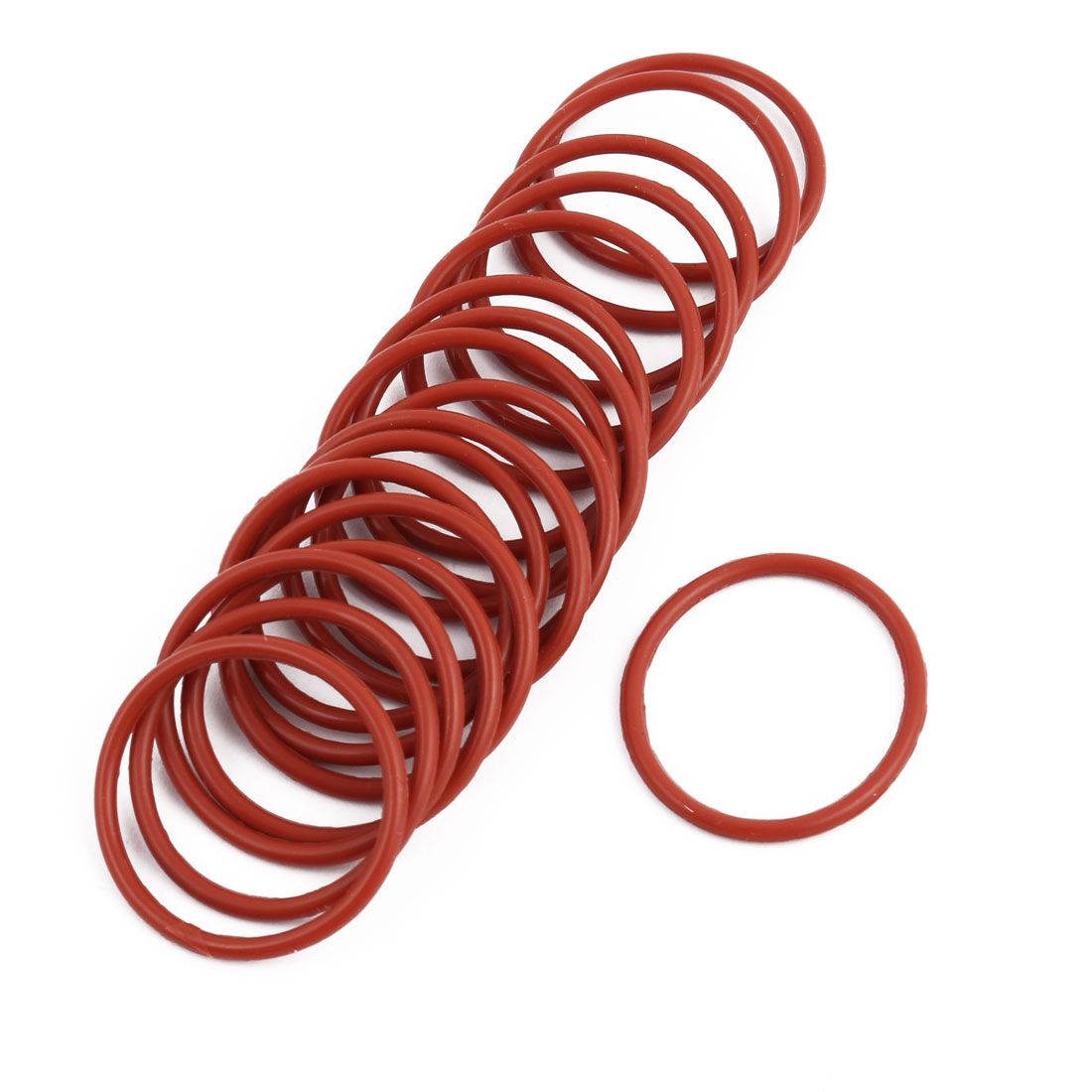 20pcs Red Round Nitrile Butadiene Rubber NBR O-Ring 27mm OD 1.9mm Width