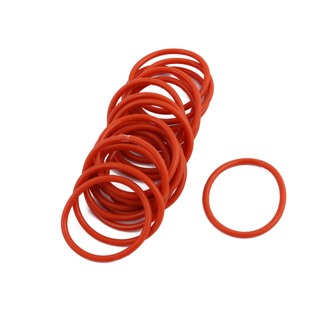 20pcs Red Round Nitrile Butadiene Rubber NBR O-Ring 25mm OD 1.9mm Width