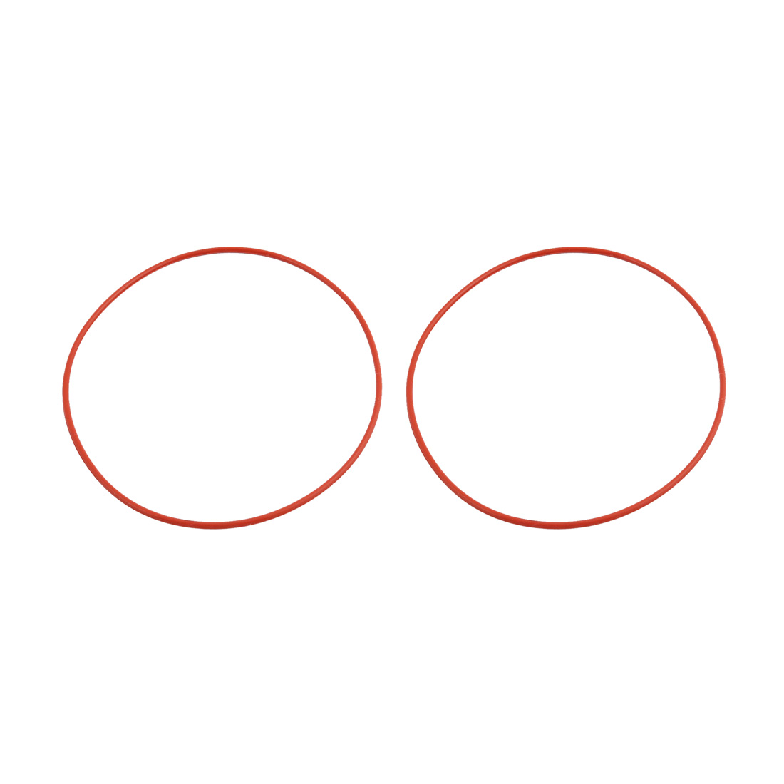 2pcs Red Round Nitrile Butadiene Rubber NBR O-Ring 95mm OD 1.9mm Width