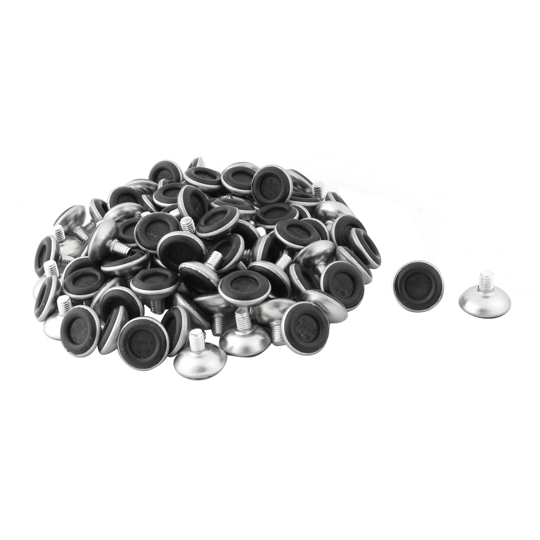 Home Office Plastic Base Round Chair Table Leg Tube Insert Leveling Foot 100pcs