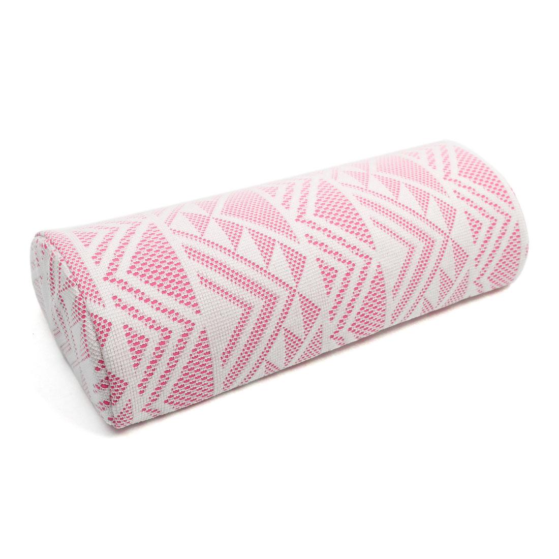 Pink Soft Geometric Printed Manicure Nail Art Hand Arm Rest Cushion Pillow Pad