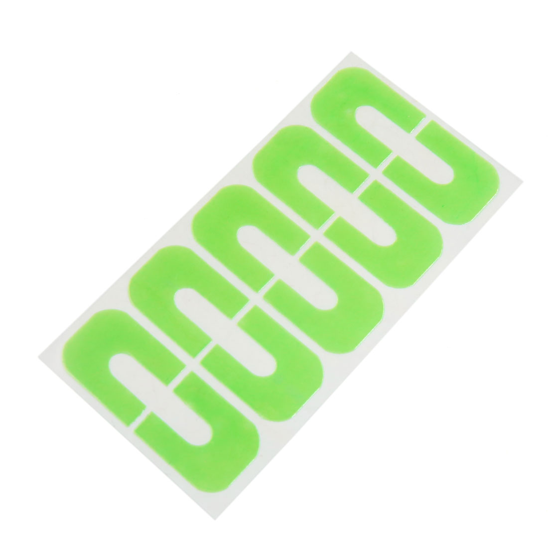 10pcs Green Nail Polish Protector Spill-Resistant Stencil Stickers Manicure Tape