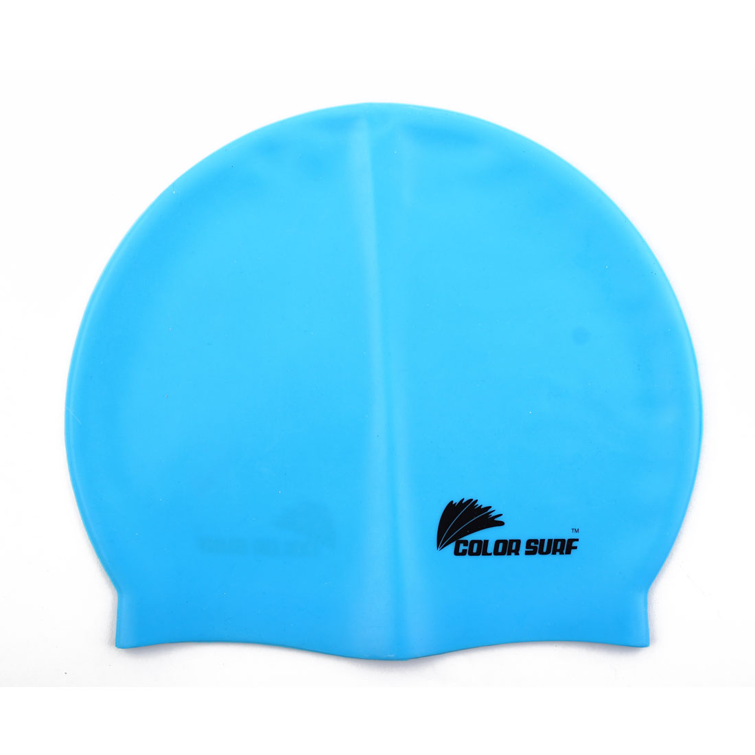 Sports Surfing Swimming Silicone Dome Shaped Elastic Stretchable Swim Hat Cap Sky Blue