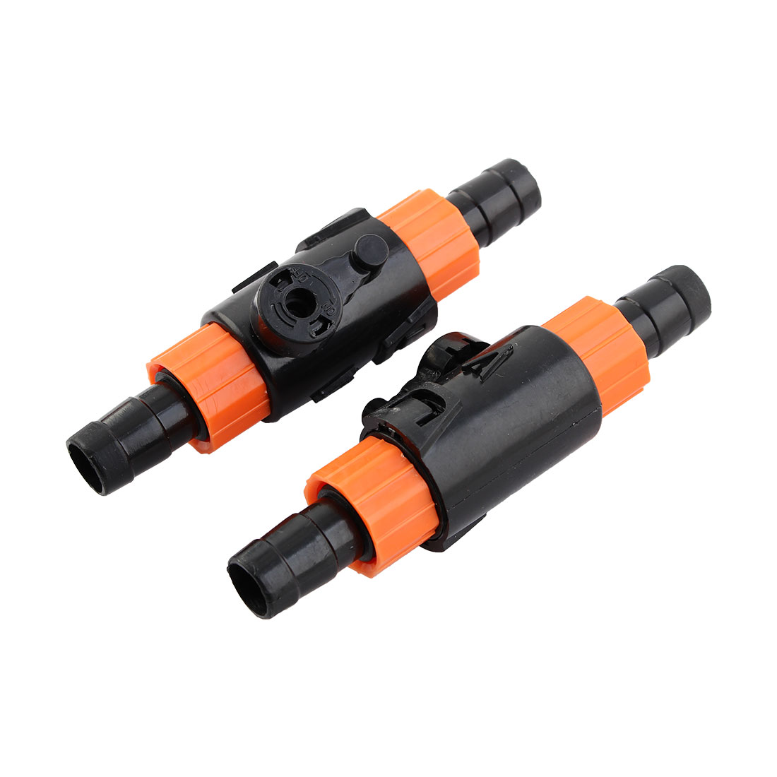 Aquarium Fish Tank Water Flow Control Valve Hose Pipe Quick Connector Adapter 2pcs