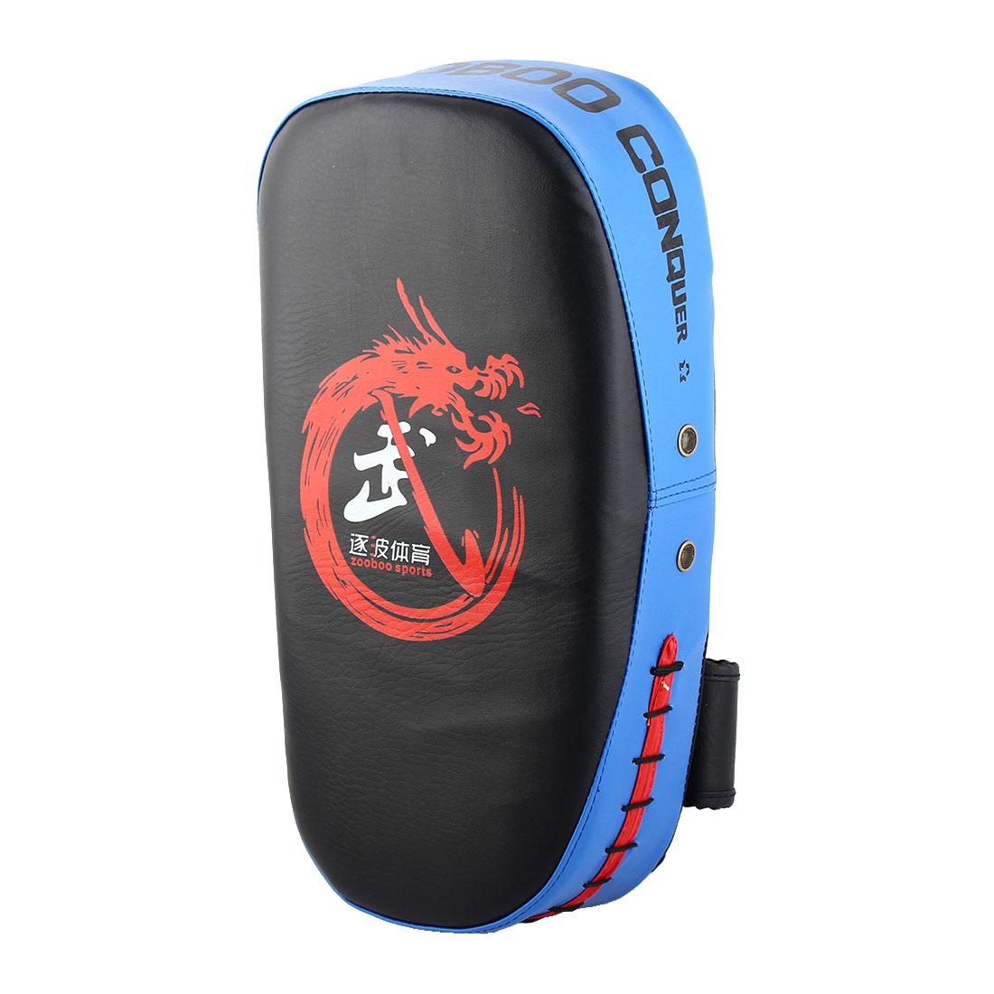 Dragon Pattern Target Punching Kicking Training Single Boxing Thai Pad Blue