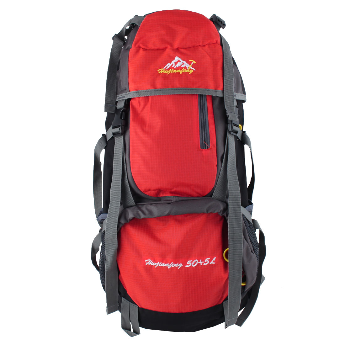 HWJIANFENG Authorized Outdoor Travel Trekking Riding Climbing Mountaineering Pack Water Resistant Sport Bag Hiking Backpack Daypack Red 55L