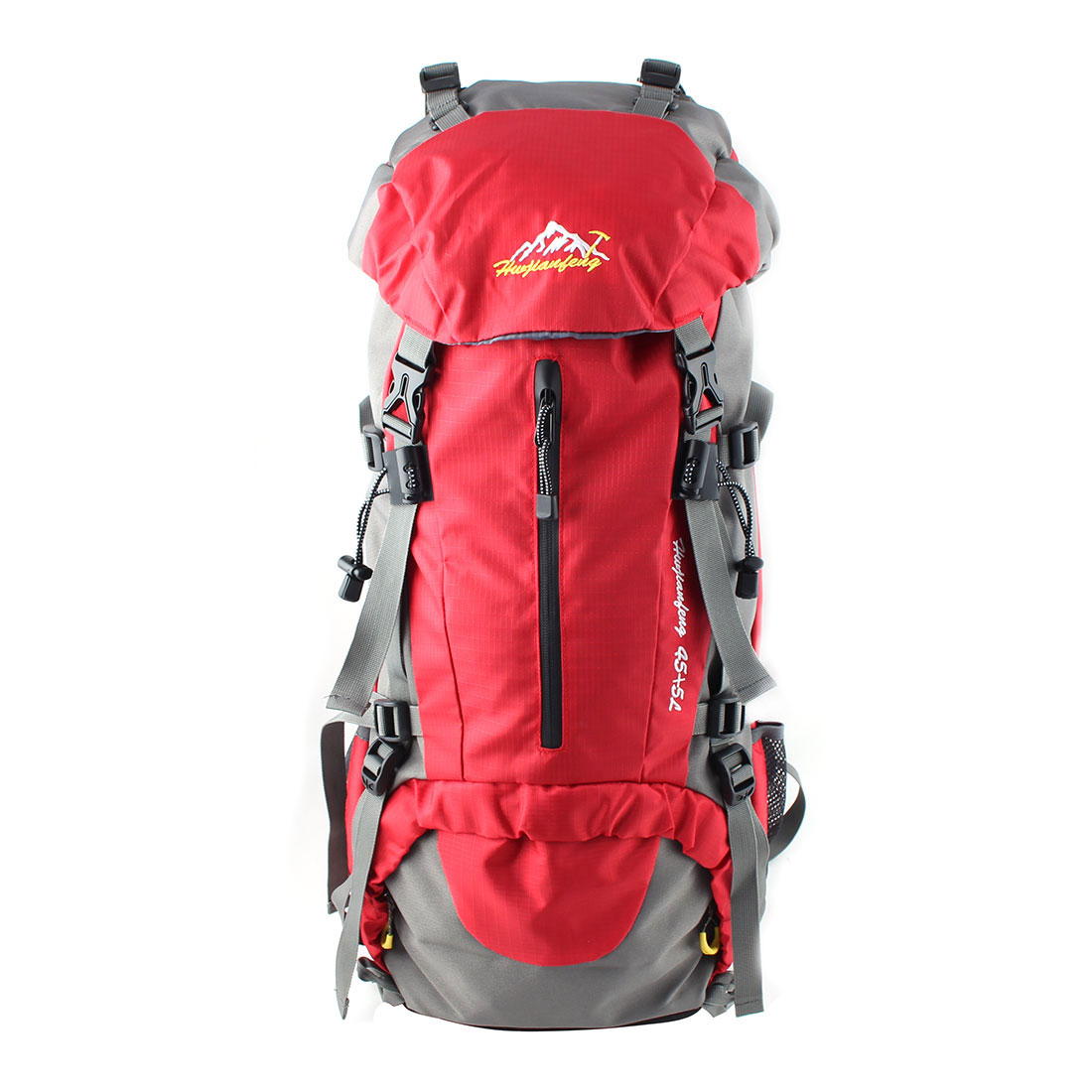 HWJIANFENG Authorized Outdoor Travel Trekking Climbing Mountaineering Pack Water Resistant Lightweight Sport Bag Hiking Backpack Daypack Red 50L