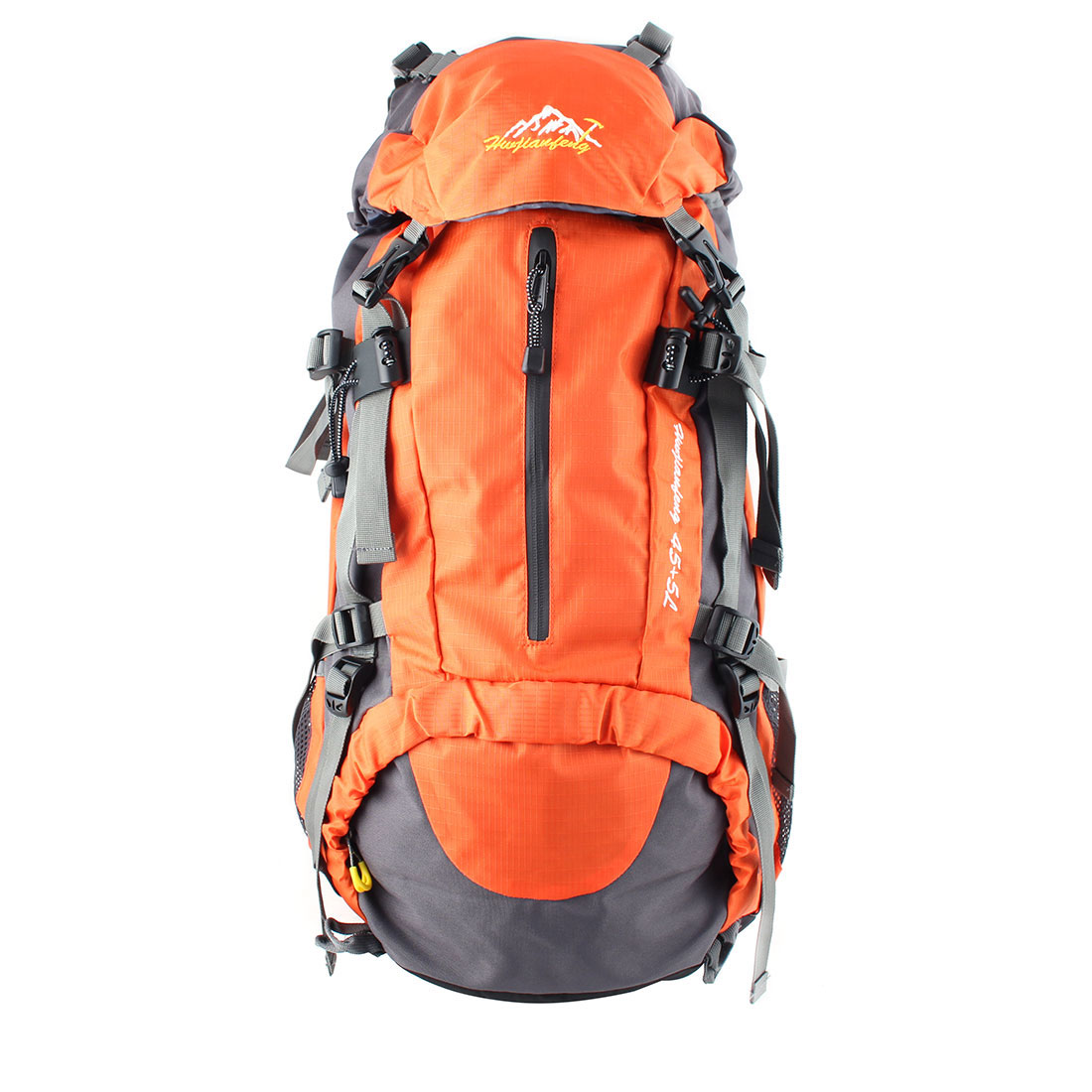HWJIANFENG Authorized Outdoor Travel Trekking Climbing Mountaineering Pack Water Resistant Lightweight Sport Bag Hiking Backpack Daypack Orange 50L