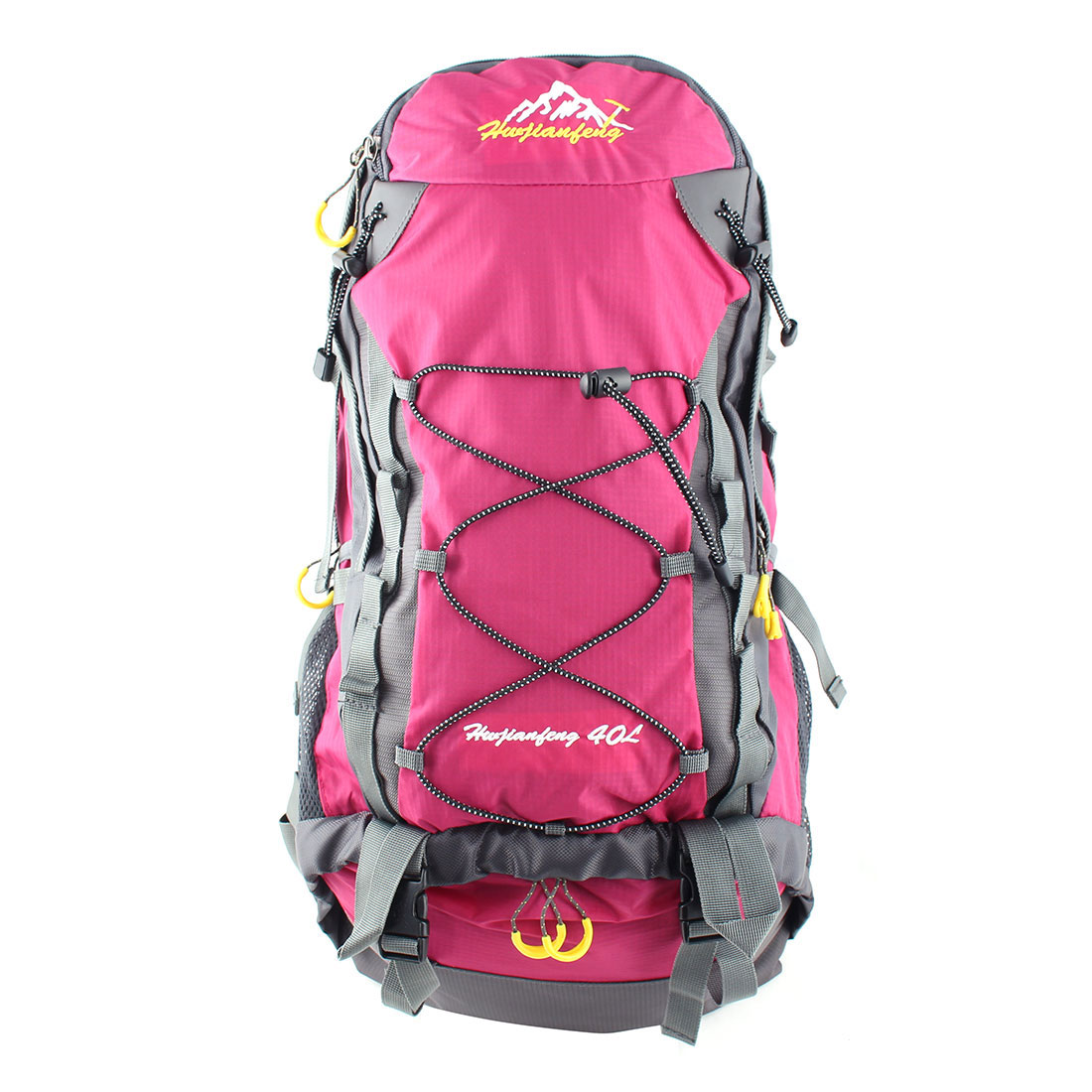 HWJIANFENG Authorized Outdoor Travel Trekking Climbing Mountaineering Pack Water Resistant Lightweight Sport Bag Hiking Backpack Daypack Purple 40L