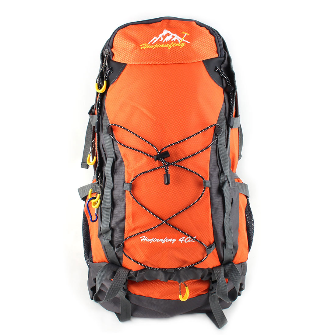 HWJIANFENG Authorized Outdoor Travel Trekking Climbing Mountaineering Pack Water Resistant Lightweight Sport Bag Hiking Backpack Daypack Orange 40L