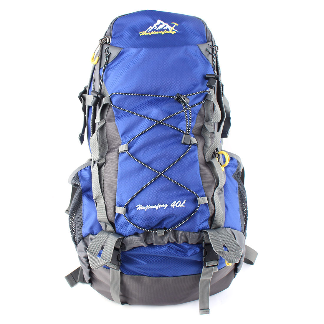 HWJIANFENG Authorized Outdoor Travel Trekking Climbing Mountaineering Pack Water Resistant Lightweight Sport Bag Hiking Backpack Daypack Blue 40L