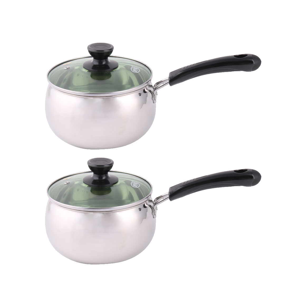 Household Kitchen Plastic Handle Milk Porrige Soup Noodles Cooking Pot Pan 2 Pcs