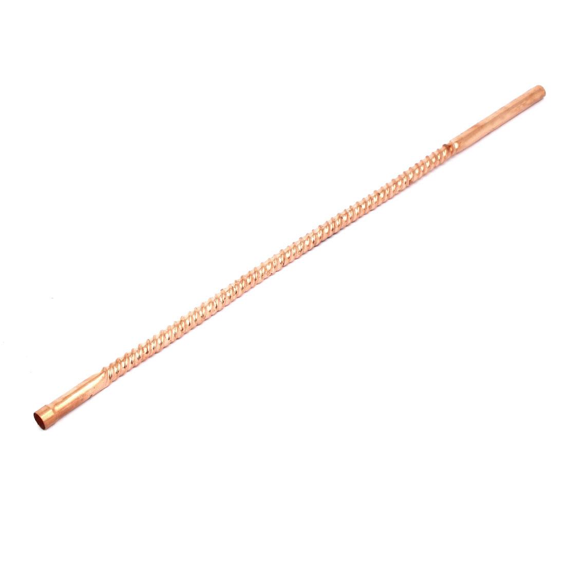 10mm Inner Diameter 39cm Length Ripple Design Copper Tube Air Conditioner Parts