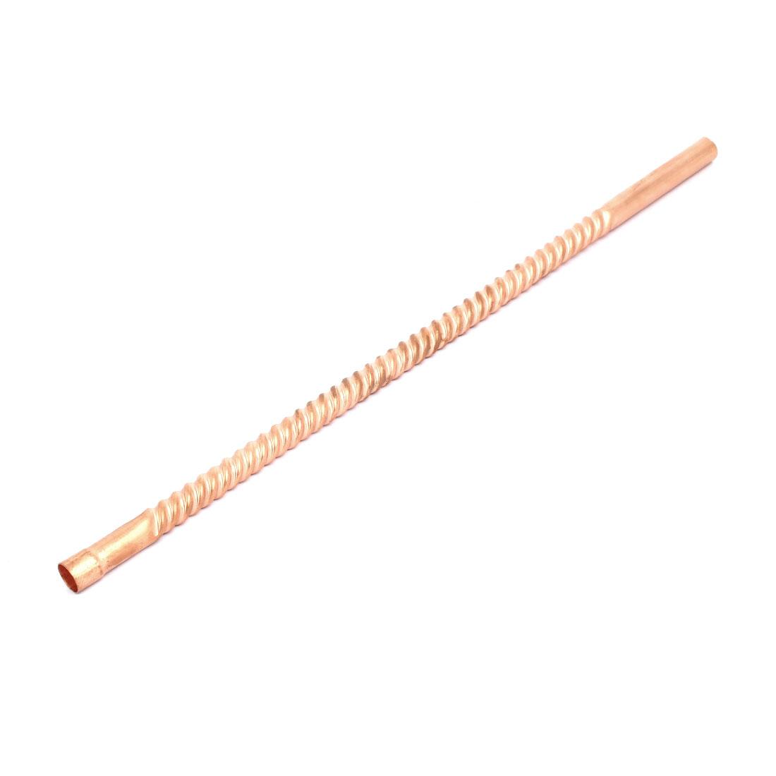 12mm Inner Diameter 39cm Length Ripple Design Copper Tube Air Conditioner Parts