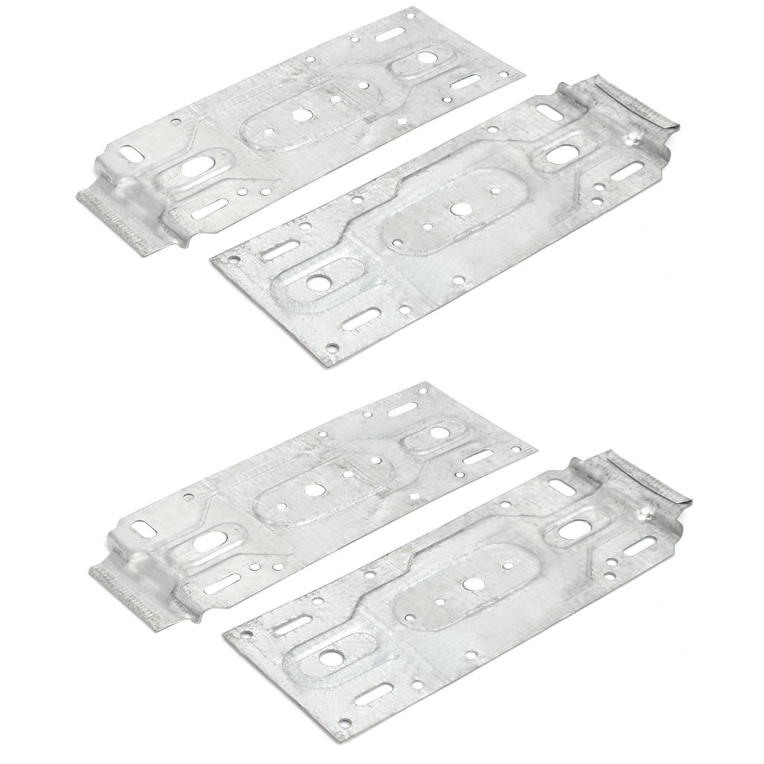 200mmx75mm Iron Zinc Plated Air Conditioner Hanging Board Plate Bracket 4pcs