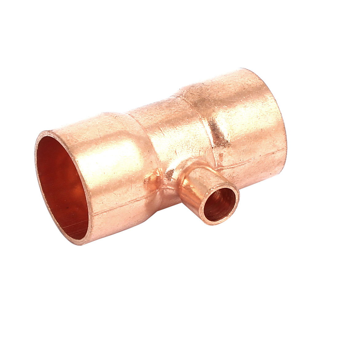 19mmx6.35mm Copper Tee Reducing Fitting Air Conditioner Plumbing Accessory