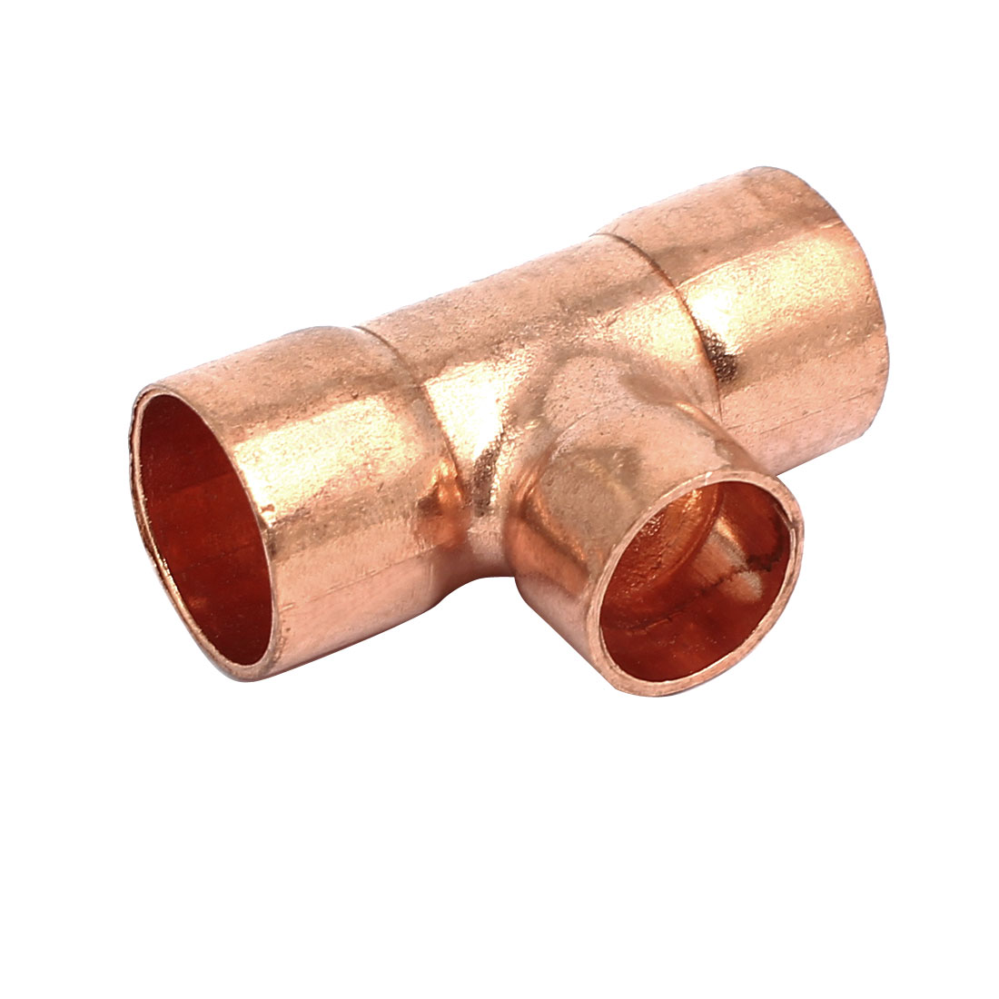 16mmx12.7mm Copper Tee Joint Seperation Tube Connector for Air Conditioner
