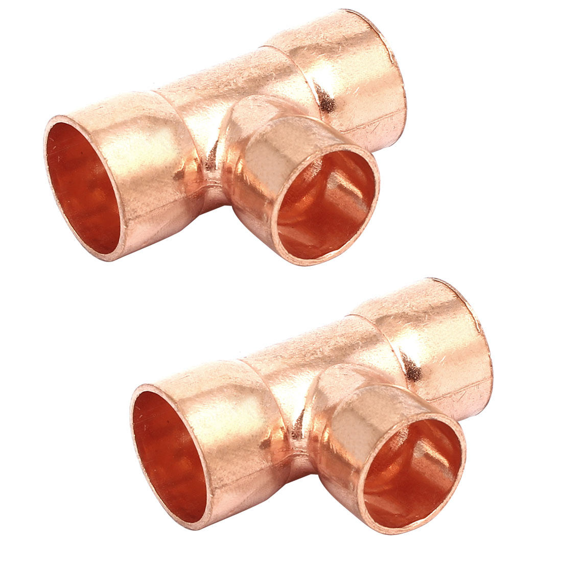 19mmx16mm Air Conditioner Copper Tee Joint Seperation Tube Connector 2pcs