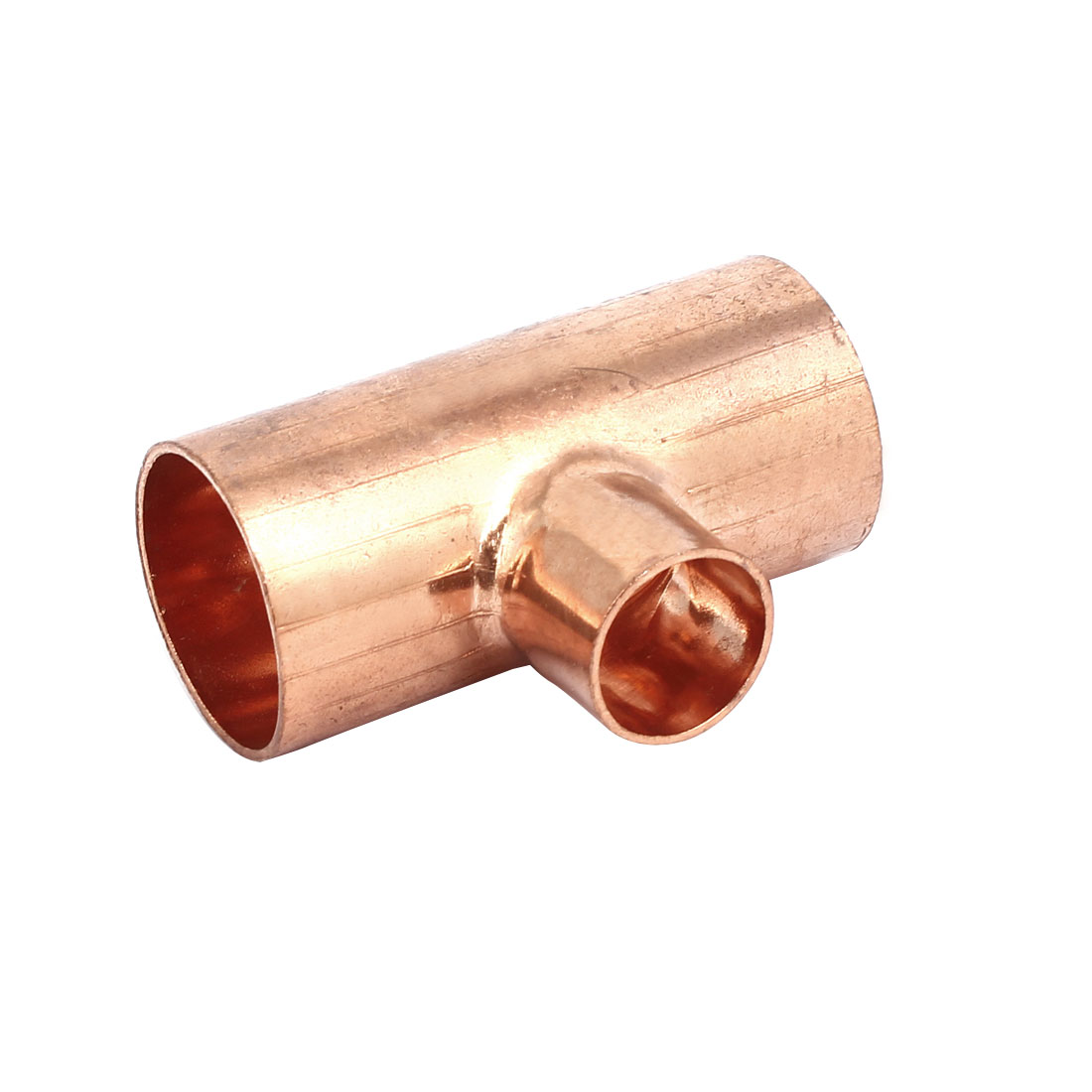 32mmx19mm Copper Tee Reducing Fitting Air Conditioner Plumbing Accessory