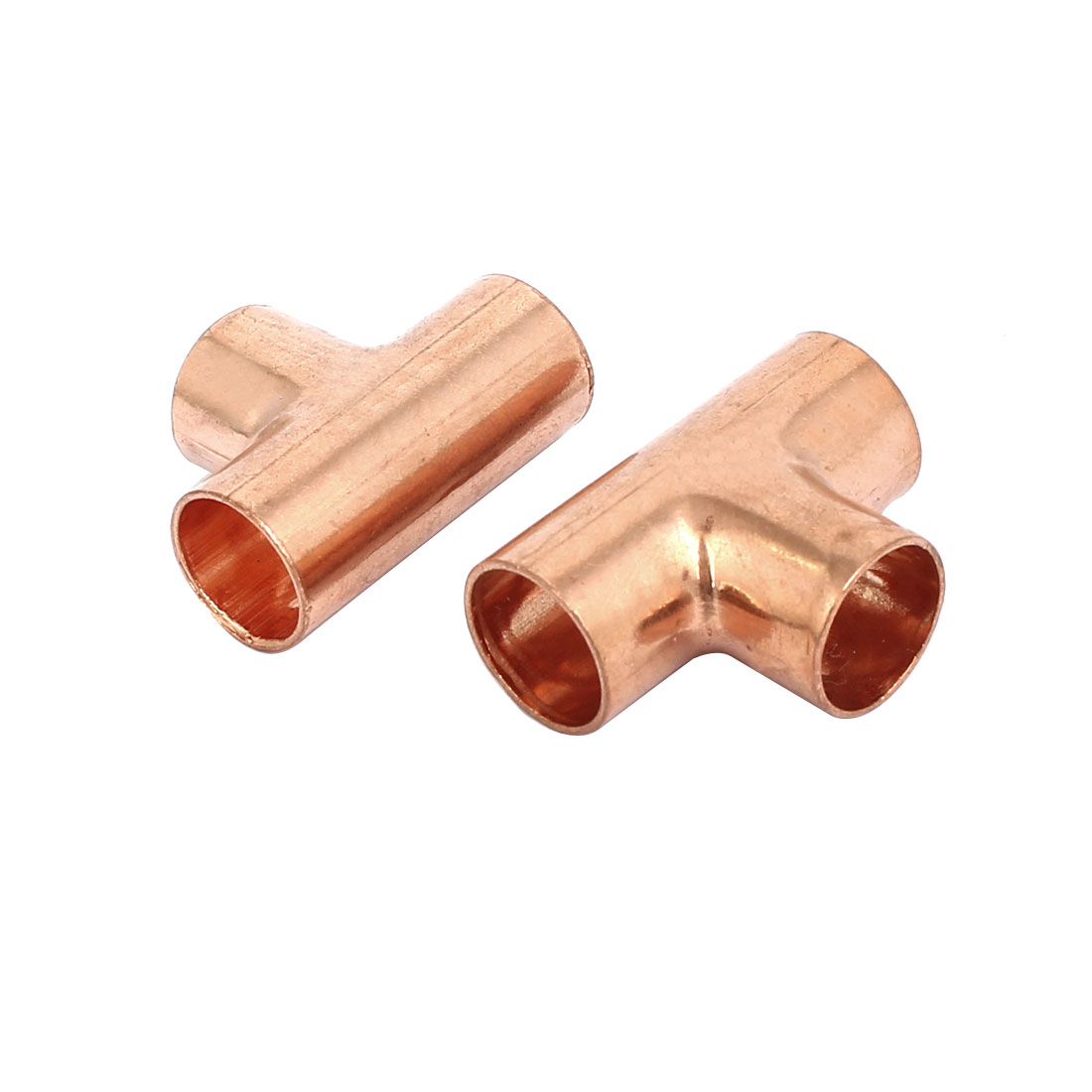 12mm Air Conditioner Copper Tee Joint Seperation Tube Connector 2pcs