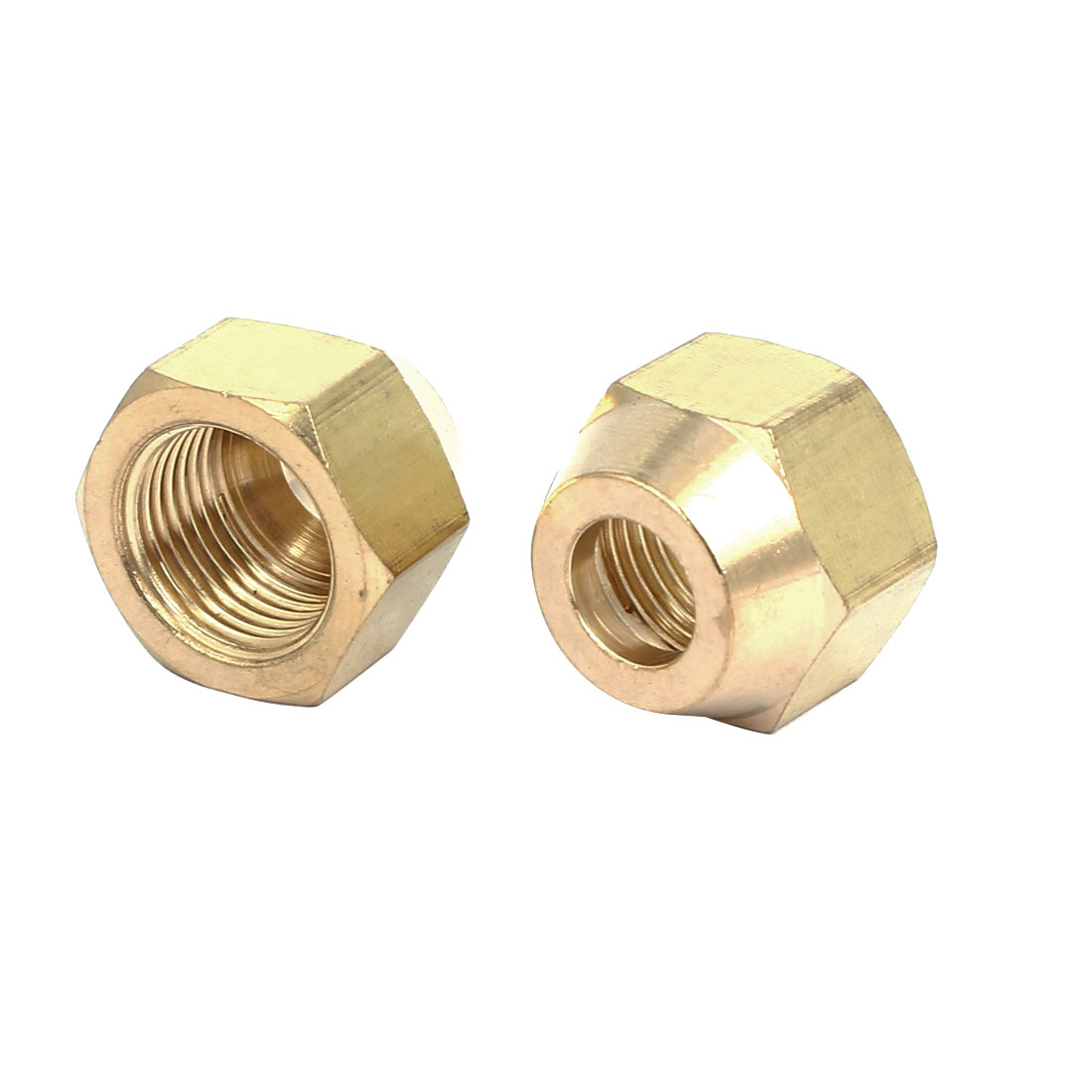 3/8BSP Brass Flare Nuts Air Conditioner Parts Fittings 2pcs for 10mm Dia Pipe