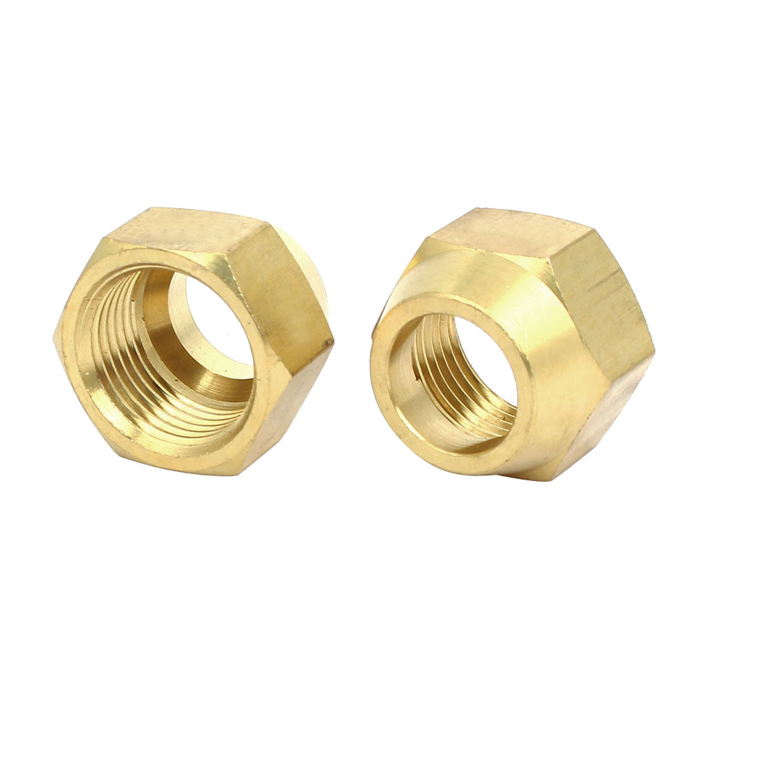5/8BSP Brass Flare Nuts Air Conditioner Parts Fittings 2pcs for 16mm Dia Pipe
