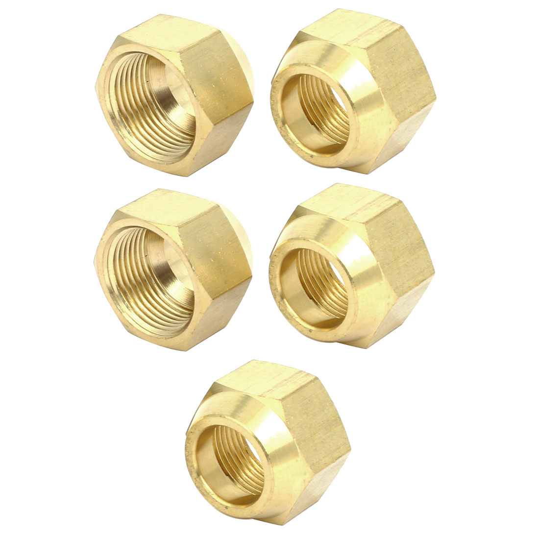 3/4BSP Brass Flare Nuts Air Conditioner Parts Fittings 5pcs for 19mm Dia Pipe