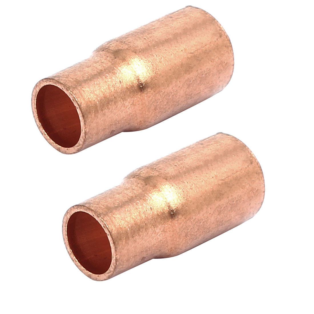 8mmx6.35mm Tube Air Conditioner Copper Reducer Straight Fittings 2pcs