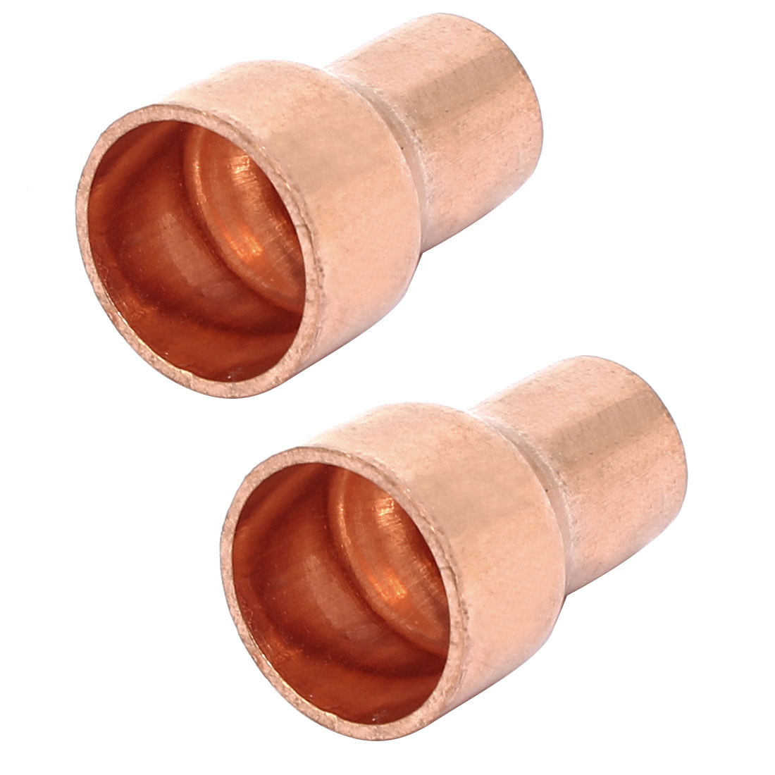 12.7mmx8mm Tube Air Conditioner Copper Reducer Straight Fittings 2pcs