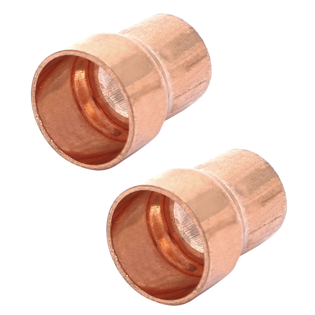 16mmx12.7mm Tube Air Conditioner Copper Reducer Straight Fittings 2pcs