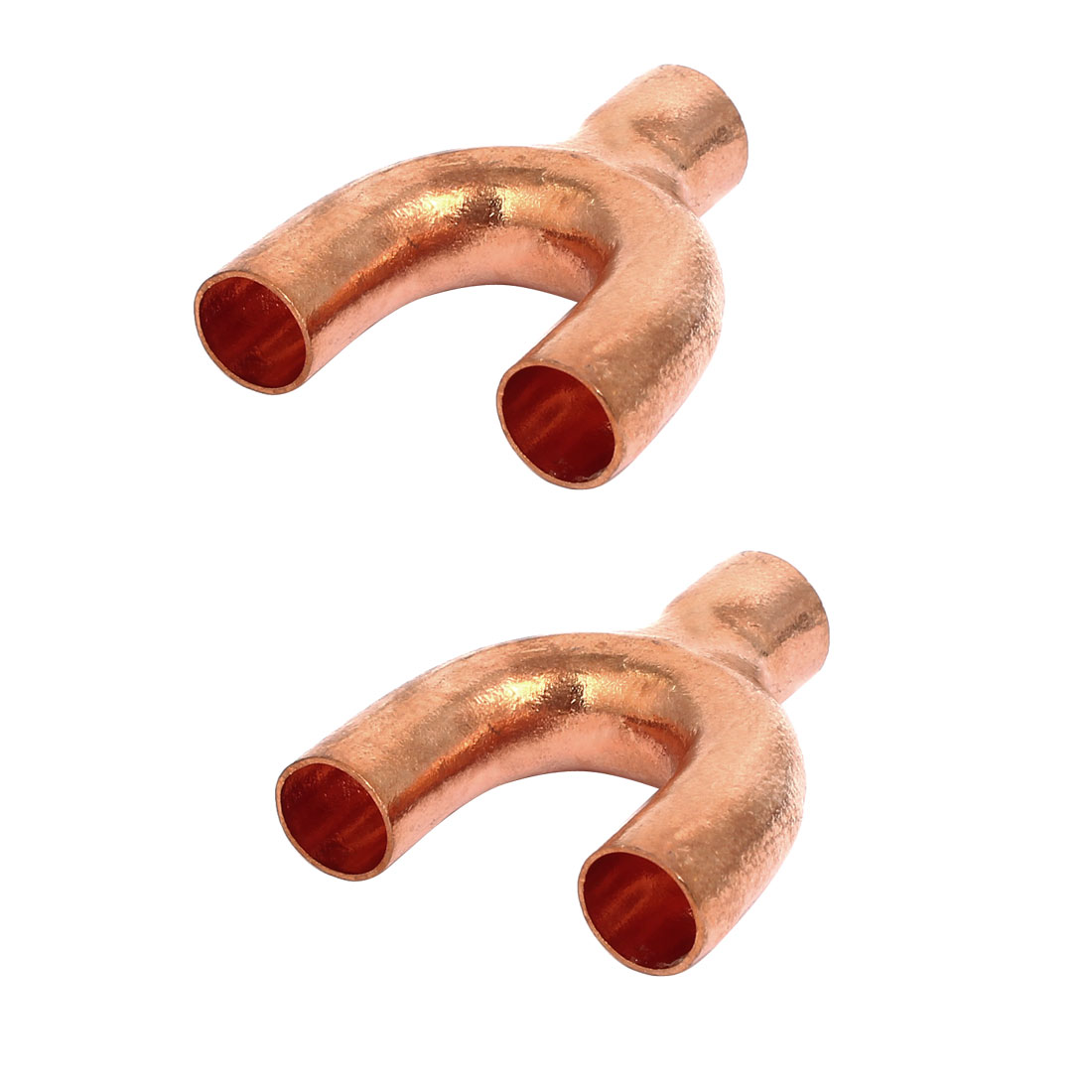 13mm x 10.5mm Inner Dia Copper Pipe Fitting Air Conditioner Y Branch 2pcs
