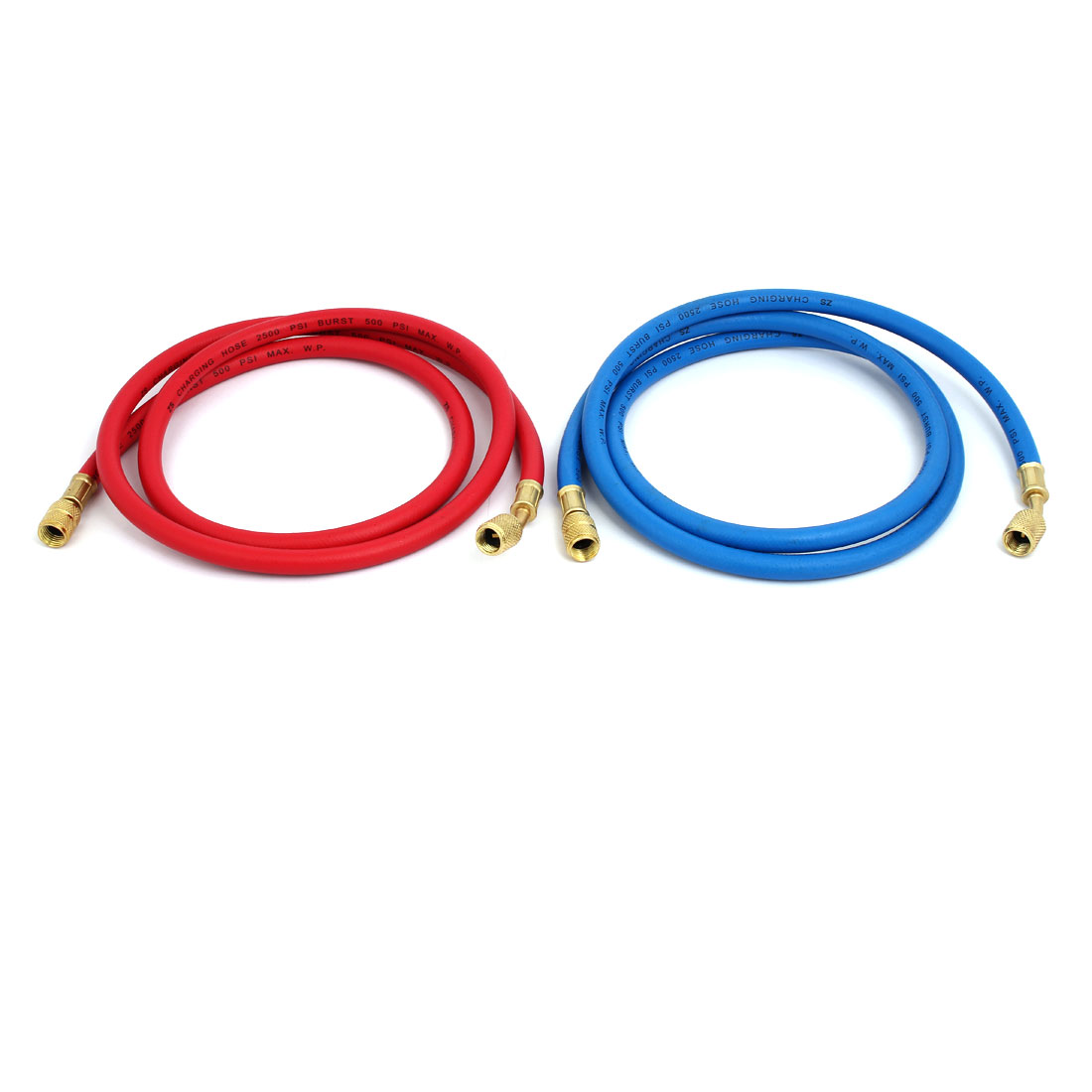 2pcs 1.36M 1/4NPT to M12 Refrigeration Charging Hose for AC Refrigerant R22 R134