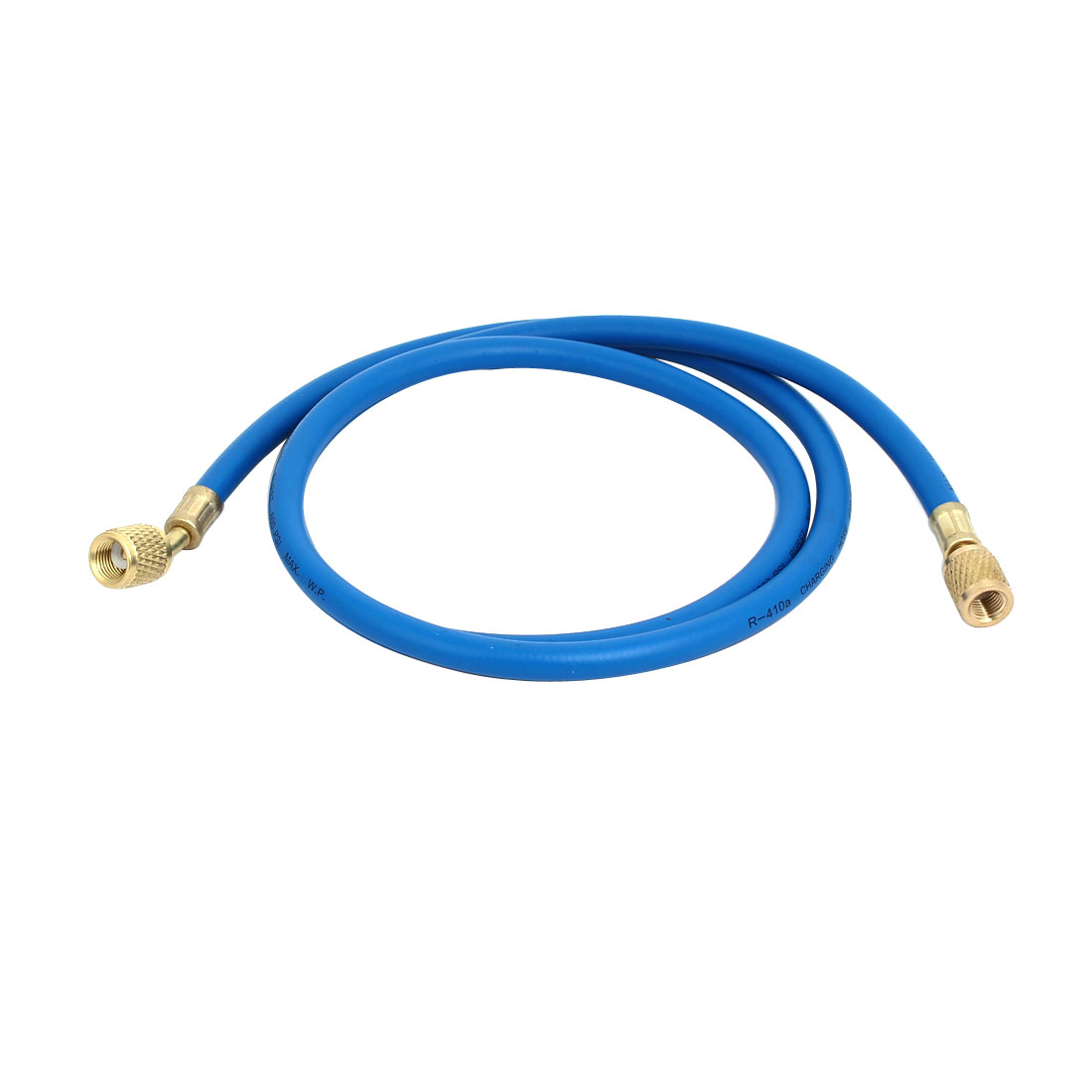 1.36M 1/4NPT to M12 Refrigeration Charging Hose Blue for AC Refrigerant R410