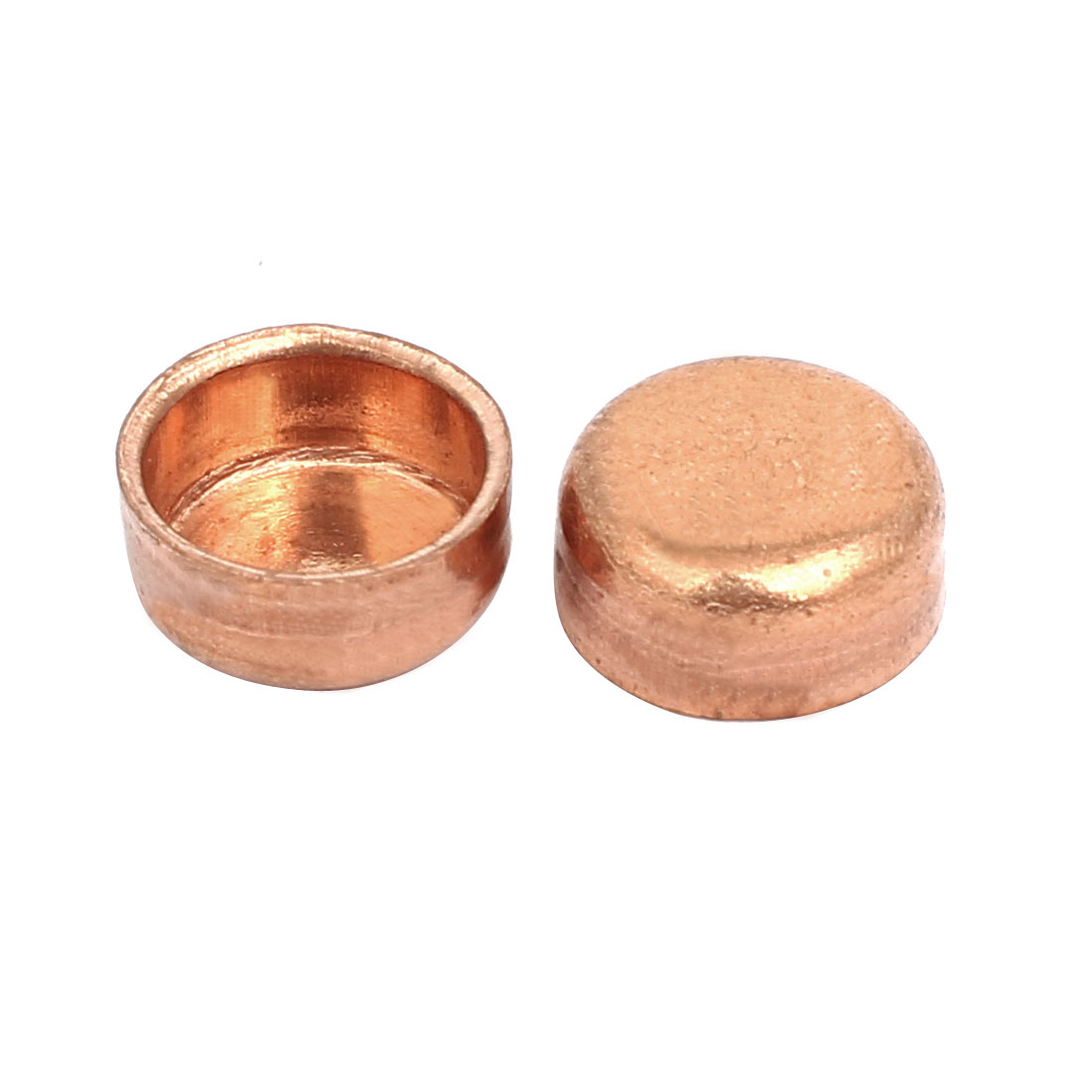 9.52mmx0.8mm Copper Pipe Tube End Cap Cover Plumbing Fitting 2pcs