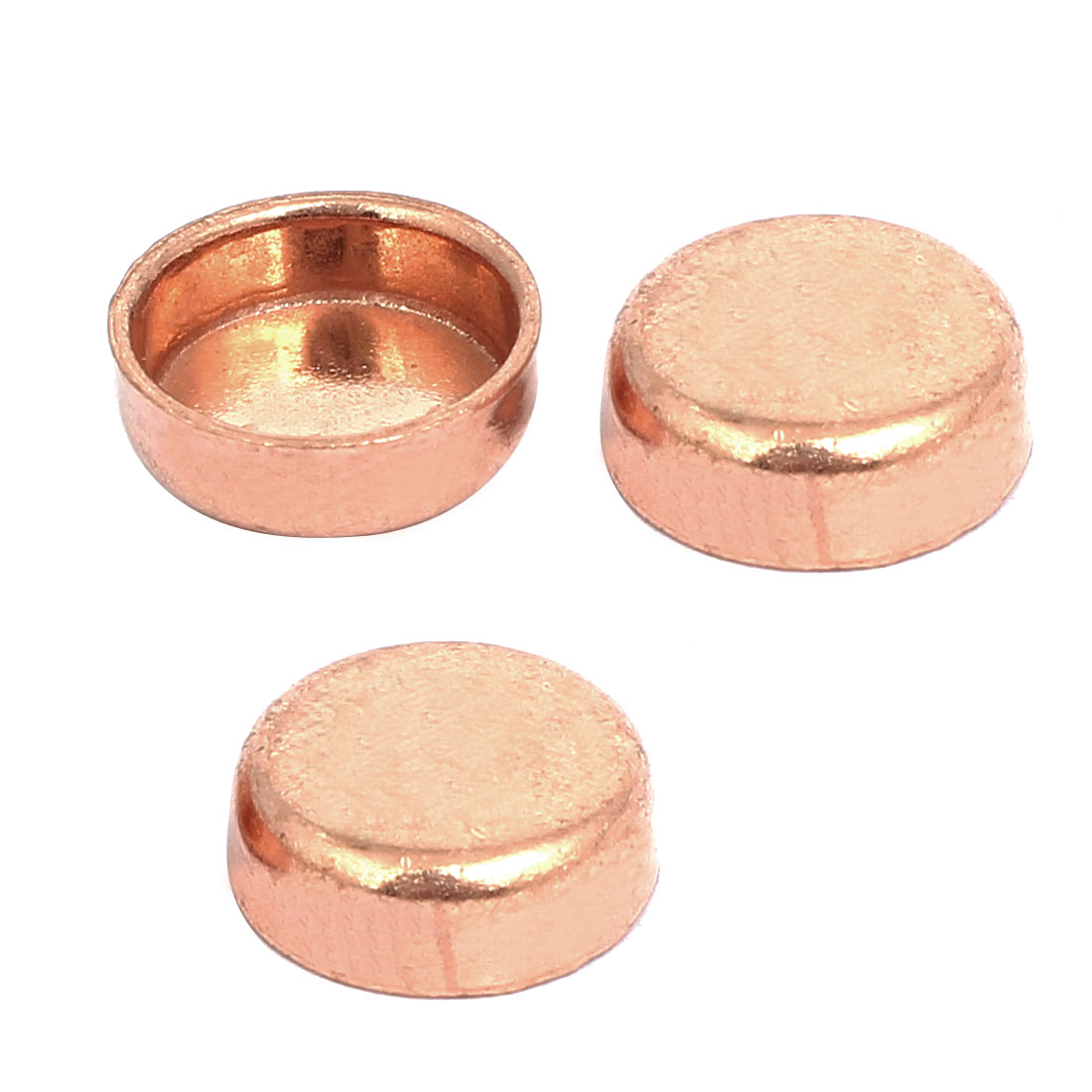 12.7mmx0.8mm Copper Pipe Tube End Cap Cover Plumbing Fitting 3pcs