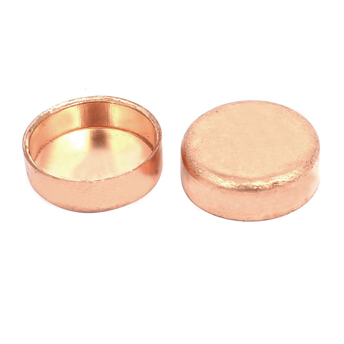 16mmx1mm Copper Pipe Tube End Cap Cover Plumbing Fitting 2pcs