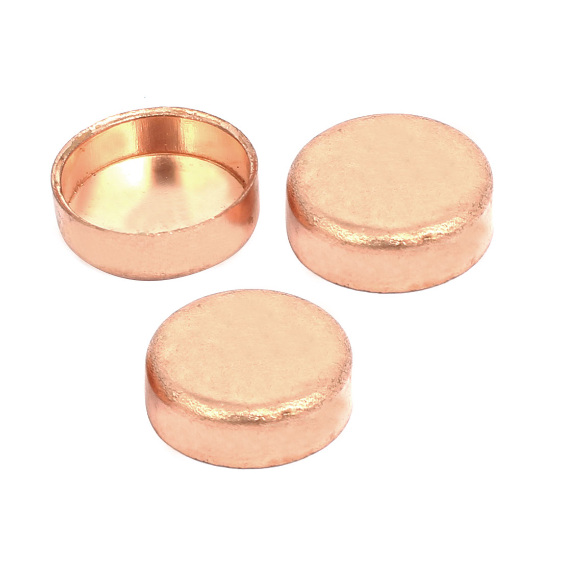 16mmx1mm Copper Pipe Tube End Cap Cover Plumbing Fitting 3pcs