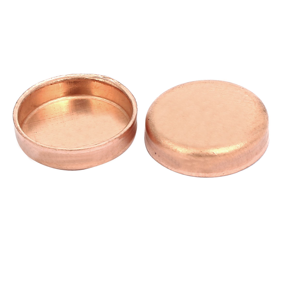 19mmx1mm Copper Pipe Tube End Cap Cover Plumbing Fitting 2pcs
