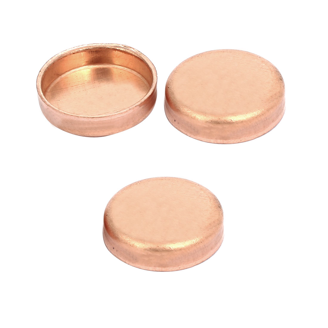 19mmx1mm Copper Pipe Tube End Cap Cover Plumbing Fitting 3pcs