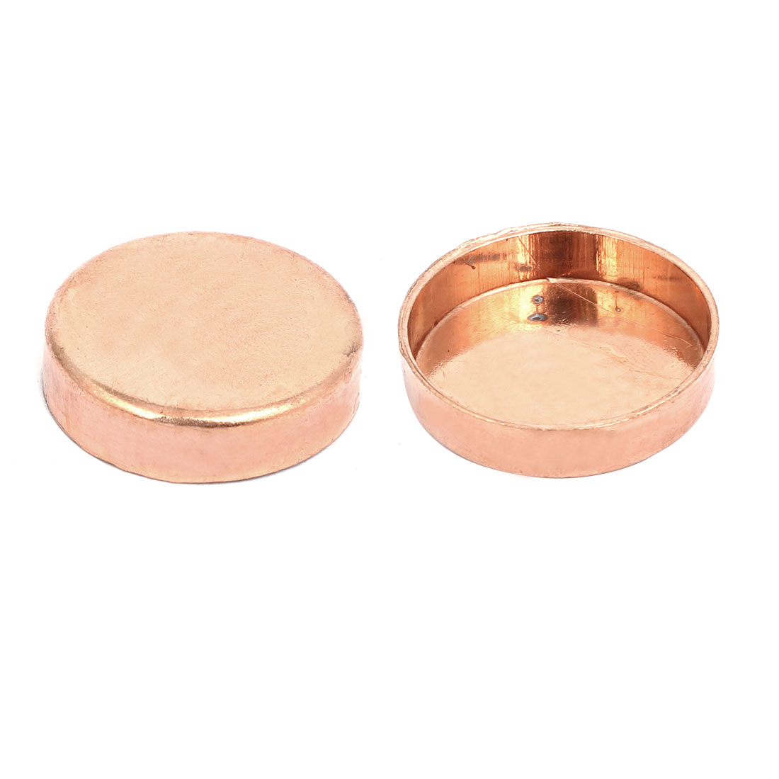 28.6mmx1.5mm Copper Pipe Tube End Cap Cover Plumbing Fitting 2pcs