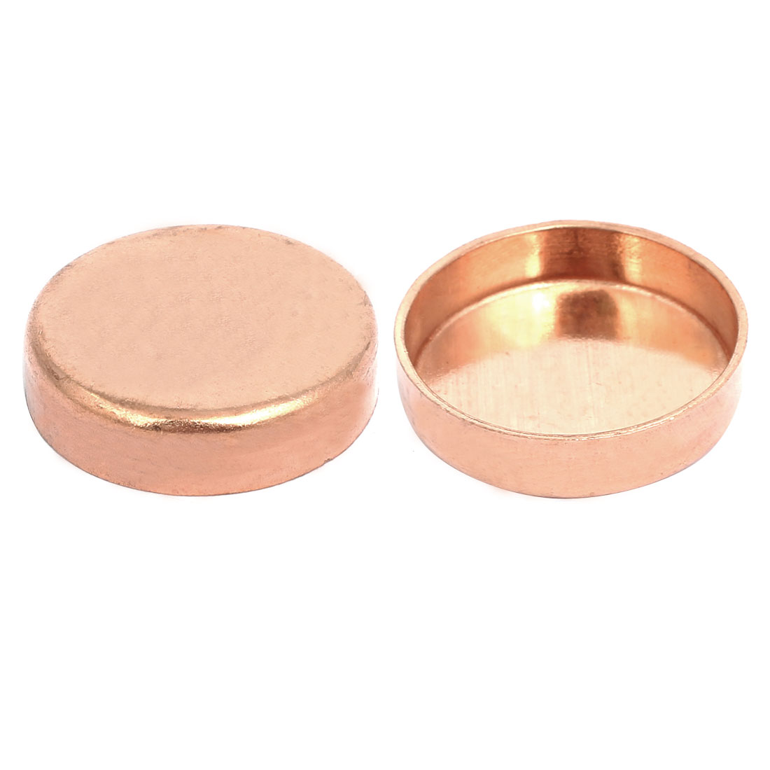 32mm Inner Dia 1.5mm Thickness Copper Tube End Cap Cover Plumbing Fitting 2pcs