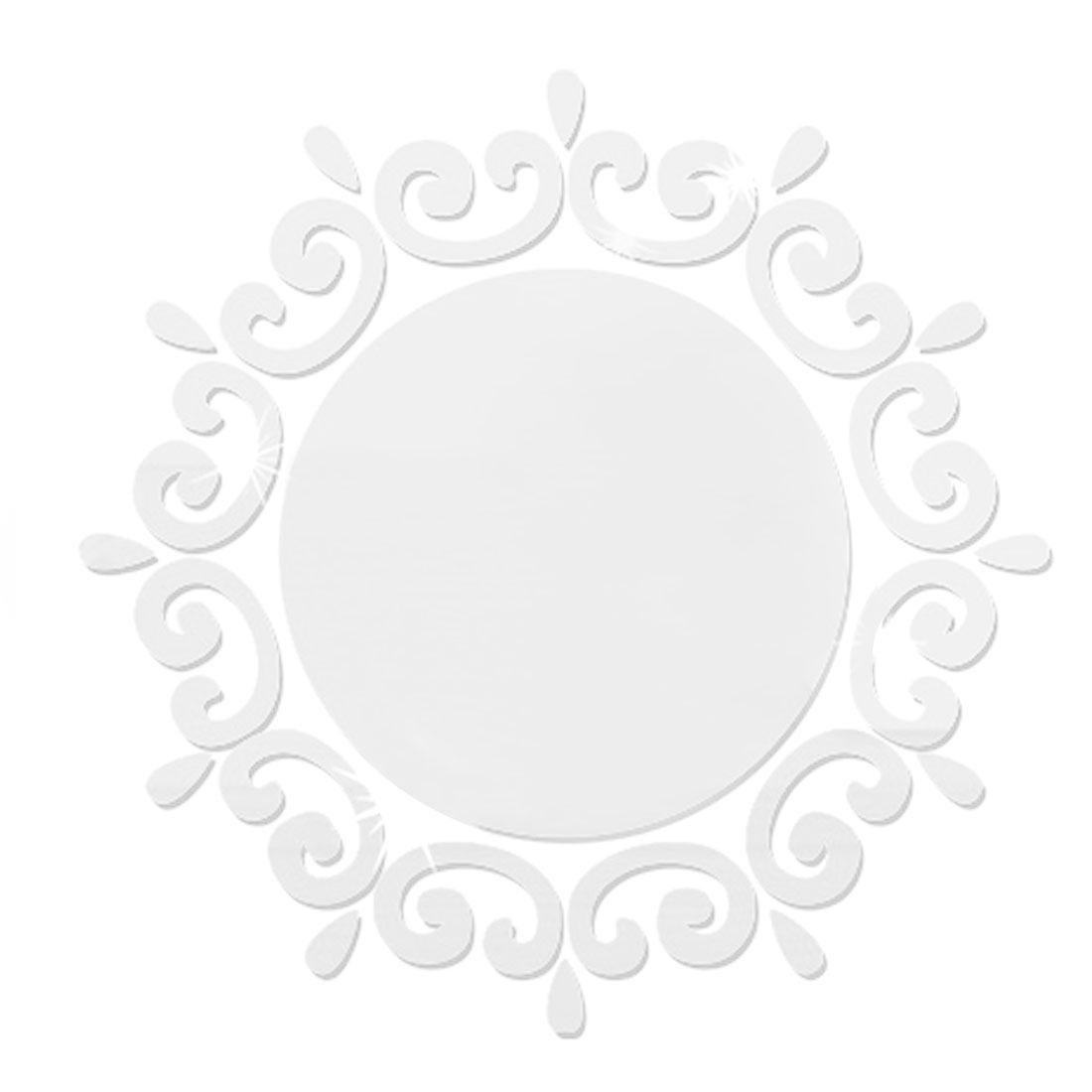 Room Acrylic 3D Art Mural Decor Mirror Wall Sticker Decal Silver Tone