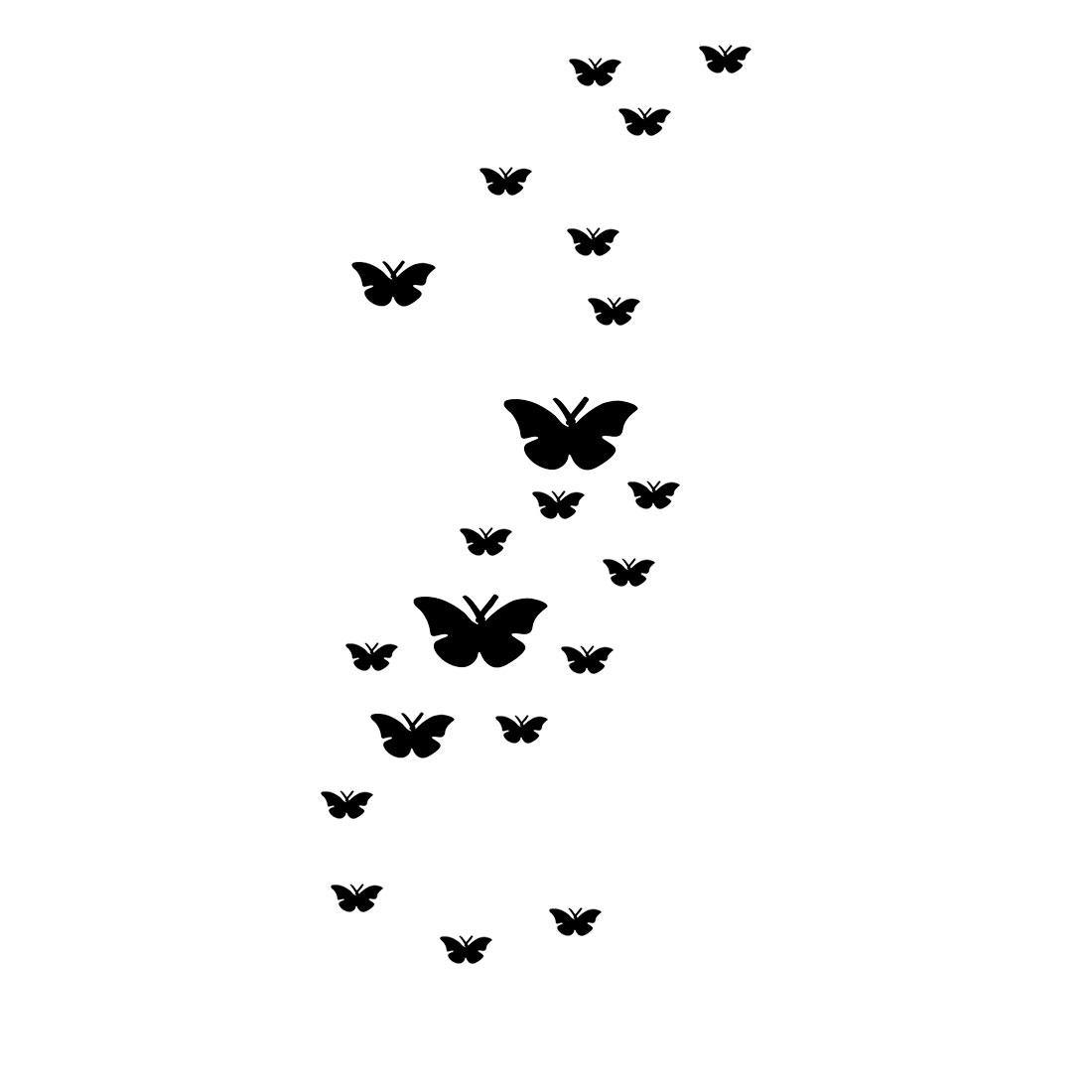 Room Acrylic Butterfly Shaped 3D Art Decor Mirror Wall Sticker Decal Black