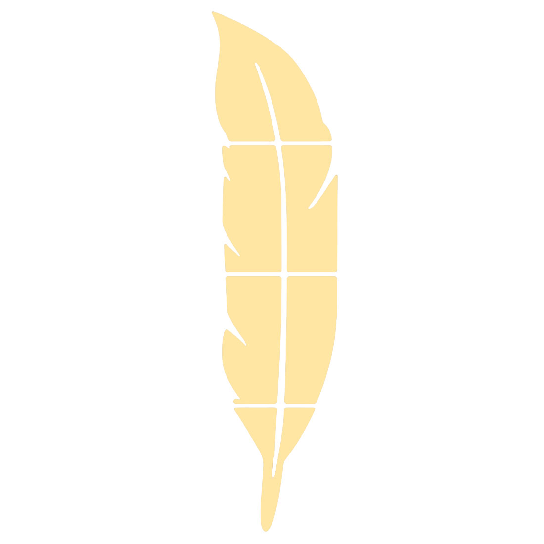 Room Acrylic Feather Shaped Self-adhesive Mural Mirror Wall Sticker Gold Tone