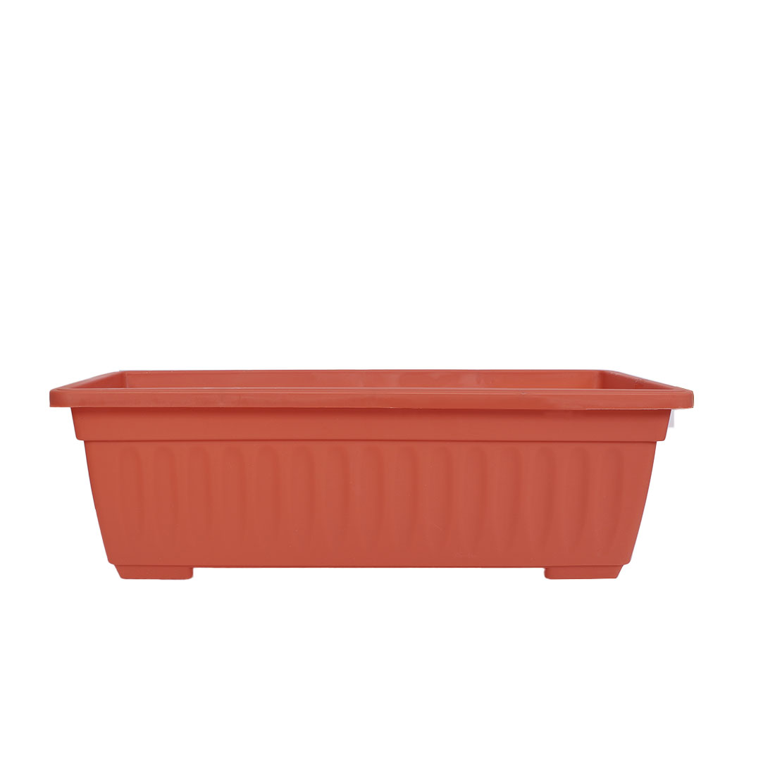 Balcony Garden Plastic Desktop Decoration Plant Container Planter Flower Pot Brick Red