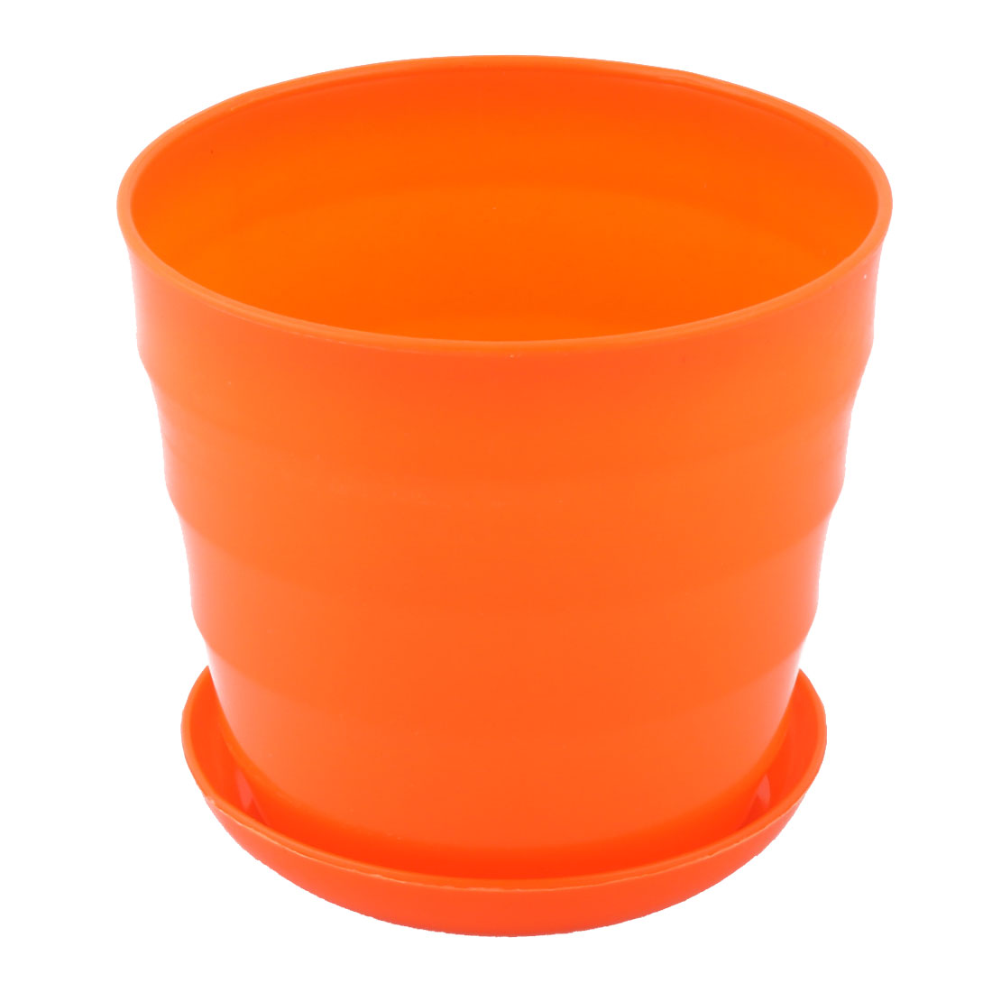 Yard Garden Plastic Round Plant Succulent Aloe Holder Flower Pot Container Orange