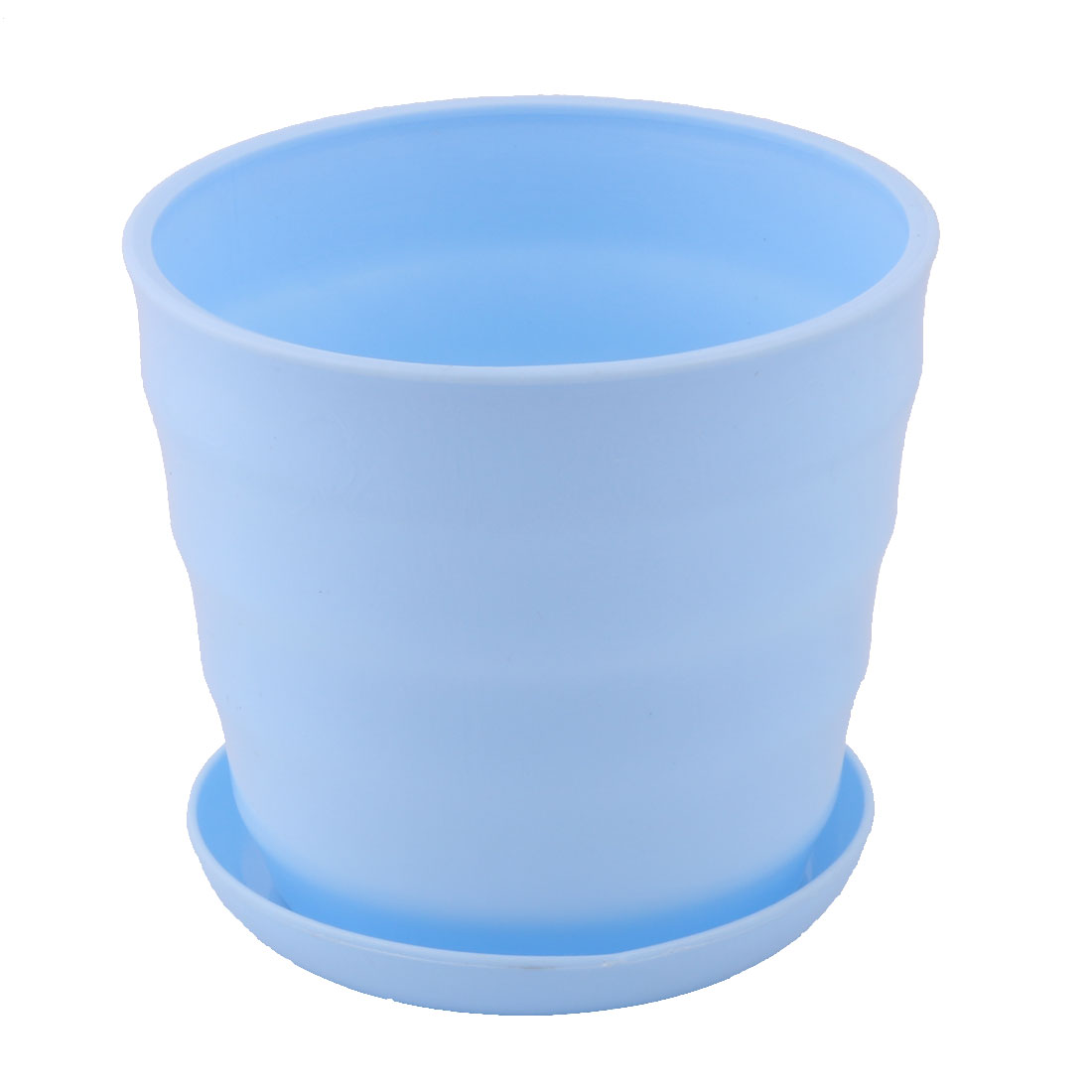 Yard Garden Plastic Round Plant Succulent Aloe Holder Flower Pot Container Light Blue