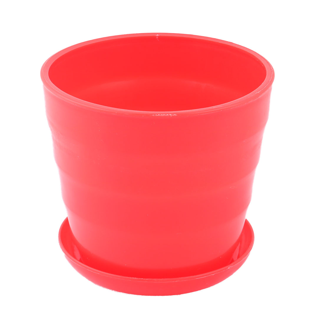 Yard Garden Plastic Round Plant Succulent Aloe Holder Flower Pot Container Red