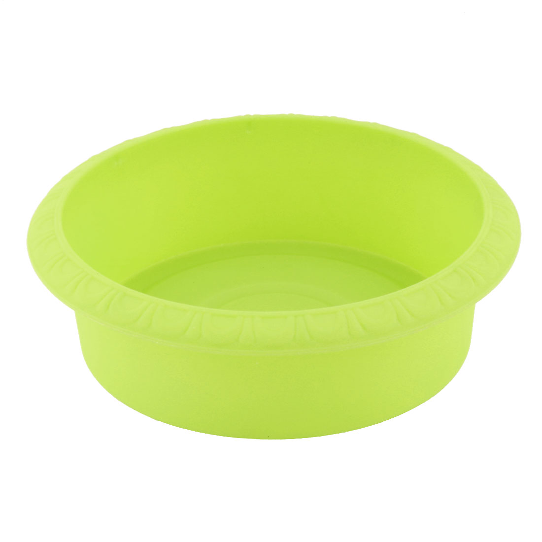 Home Plastic Round Tea Table Decor Plant Lotus Grass Flower Pot Container Yellow Green