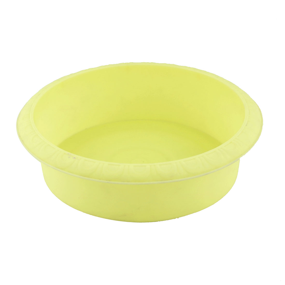 Dormitory Balcony Plastic Round Cactus Plant Flower Grass Pot Holder Container Yellow
